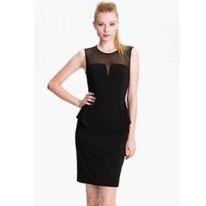 AIDAN MATTOX Peplum Black Dress
